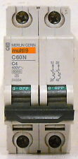 New Schneider Electric Merlin Gerin 4A Miniature Circuit Breaker, C60N-C4, 24334