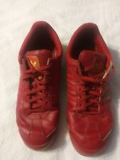 Vintage Red Leather Adidas Sneakers Shoes. Size ( 11 1/2 )