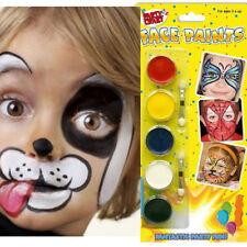 Childrens Face Paint Set White Red Yellow Blue Black Kids Painting Brush Kit