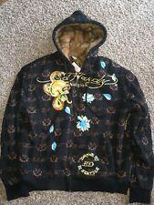 Ed Hardy Faux Fur Hoodie Jacket Nwt XXL