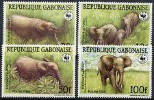Gabon 1988 SG#1000-1003 African Elephants WWF MNH Set #A92006