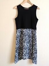 DKNY womens Lace Print Combo Dress Size 8 new with tags