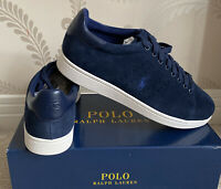 BNIB MENS POLO RALPH LAUREN LEATHER WILTON SHOES/TRAINERS/SNEAKERS SIZE UK 9
