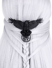 Restyle HELM OF AWE RAVEN Hair Barrette ,Black