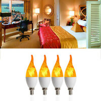 3 Modes Dimmable Light Chandelier Flame Candle Light E12 Lamp LED Bulb Home