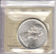 1967 Canadian Silver Dollar - ICCS MS-65 - Superb Mint State Coin