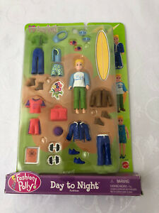 Fashion Polly Rick Day To Night Clothes Accesories 2001 Mattel Complete Box Boy