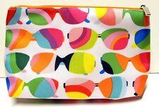 CLINIQUE Cosmetic Makeup Bag Sunglasses Print  w/ zipper