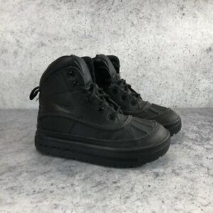 Nike Woodside 2 PS Triple Black Kids Unisex Black High Top Boots Size 11C