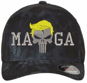 Donald Trump Hat - MAGA Punisher w/ back TRUMP 2024 Kryptek Flex Fit hat