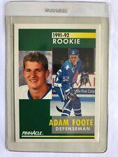 Adam Foote 1991/92 Score Pinnacle #337 Rookie Card Quebec Nordiques