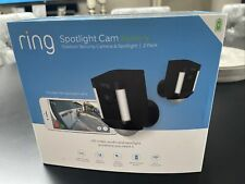 Brand new Ring Battery Spotlight Camera in Black-2 Pack with receipt warranty