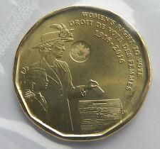 """2016 Canada 1 Dollar """" Women's Right to Vote"""" Uncirculated Coin BU Mint SB4830"""