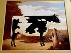 "FOLKART Charles Wysocki ""COW"".  1970 collector print. Single mat. #38"