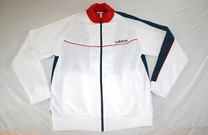 Adidas USA Soccer Sweat Jacket Men L World Cup White NEW