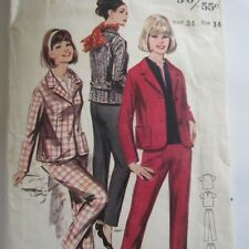 "Size 14 Vintage 1960s Sewing Pattern Butterick 3298 Ladies Suit Bust 34"" Used"