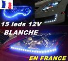 LOT DE 2 KITS ECLAIRAGE 15 LEDS ULTRA PUISSANT 12v BLANC TUNNING MOTO VOITURE