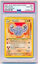 2001 Pokemon Neo Revelation Graveler Uncommon 1st Edition #30/64 PSA 10 - POP 32