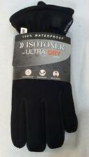 Isotoner Gloves Mens Ultra Dry Black Winter Driving Gloves Plush Lining Size M/L