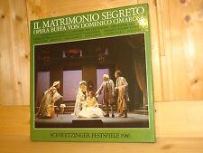Cimarosa Il Matrimonio Segreto GRIFFITHS SDR 3LP Schwetzingen Festival Live MINT
