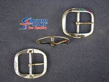 """Antique Solid Brass Buckles 1"""" 3/4"""" (44mm) Made In England"""