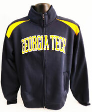 Campus Drive Men's Georgia Tech Athletic Full-Zip Track Jacket (Navy, Small)