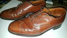 GRENSON S SERIES BROWN TAN LEATHER BROGUES SHOES SIZE 7.5 FREE UK POSTAGE