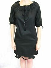 Italian Love Me Size 8 Cotton Black Shift Dress