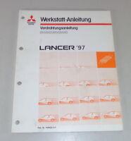 Workshop Manual Mitsubishi Lancer CJ0 Supplement Electric Schematics Year 97