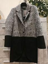 RELIGIONE Women's Oversize Lana Cappotto Invernale Tg UK 10