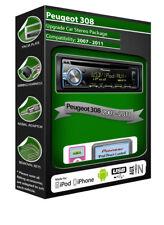 PEUGEOT 308 LETTORE CD, Pioneer unità principale SUONA IPOD IPHONE ANDROID