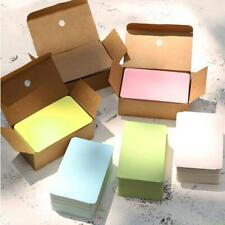 100pcs Pure Color Cards Creative Mini Kawaii Memo Pads Kraft Paper O L0C2