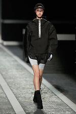 Alexander Wang H&M Rain Anorak Hooded Windbreaker Black Jacket Reflective Coat