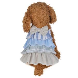 Dog Cat Bow Sling Dress Skirt Pet Puppy Princess Costume Apparel Clothes xs-xl