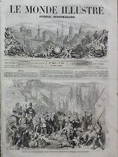 LE MONDE ILLUSTRE 1859 N 111 EXACTIONS DE L'ARMEE AUTRICHIENNE A VERCEIl (Italie