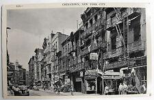VINTAGE POSTCARD-CHINATOWN NEW YORK CITY-1950'S