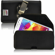 Turtleback Galaxy Core Prime Leather Black Holster Case Metal Belt Clip