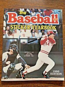 1986 Topps MLB Baseball Sticker Yearbook Album Unused
