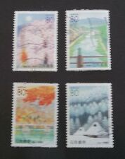 JAPAN USED 2000 PREFECTURE SEASONS 4 VALUE VF COMPLETE SET SC# Z437 - Z440