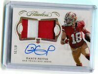 2018 PANINI FLAWLESS DANTE PETTIS AUTO PATCH ROOKIE RC #7/25 RPA AUTOGRAPH