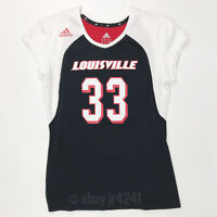 New adidas Louisville Cardinals mi Team Slam SS Volleyball Jersey Women's M