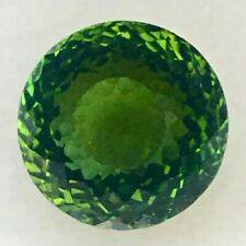 5.16CTS green natural tourmaline round cut loose gemstones watch video