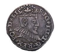 Very rare 3 penny silver 1590. Sigismund III. Poland.