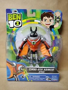 "BEN 10 2020 CARTOON NETWORK OMNI-KIX ARMOR JETRAY 4"" ACTION FIGURE NEW! RARE HTF"