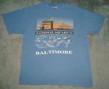 VTG 90s BALTIMORE NATIONAL AQUARIUM T SHIRT MENS LARGE L BLUE USA TEE DOLPHIN