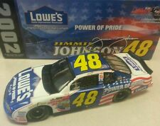 JIMMIE JOHNSON 2002 LOWES POWER OF PRIDE ROOKIE 1/24 ACTION DIECAST CAR 1/15,552