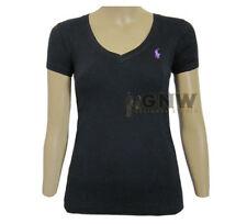 Ralph Lauren V Neck Hip Length Plus Size T-Shirts for Women