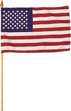 "Mini USA American Stick Flag 8"" x 12"""