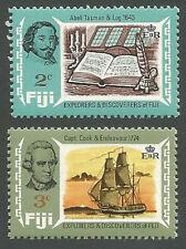 Fiji Islands Sct# 293-294, Abel Tasman & Log, Capt. Cook & Endeavor, Unused 1970