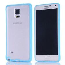 Coque bumper bi-matière TPU pour Samsung Galaxy Note 4 -  Bleu ciel